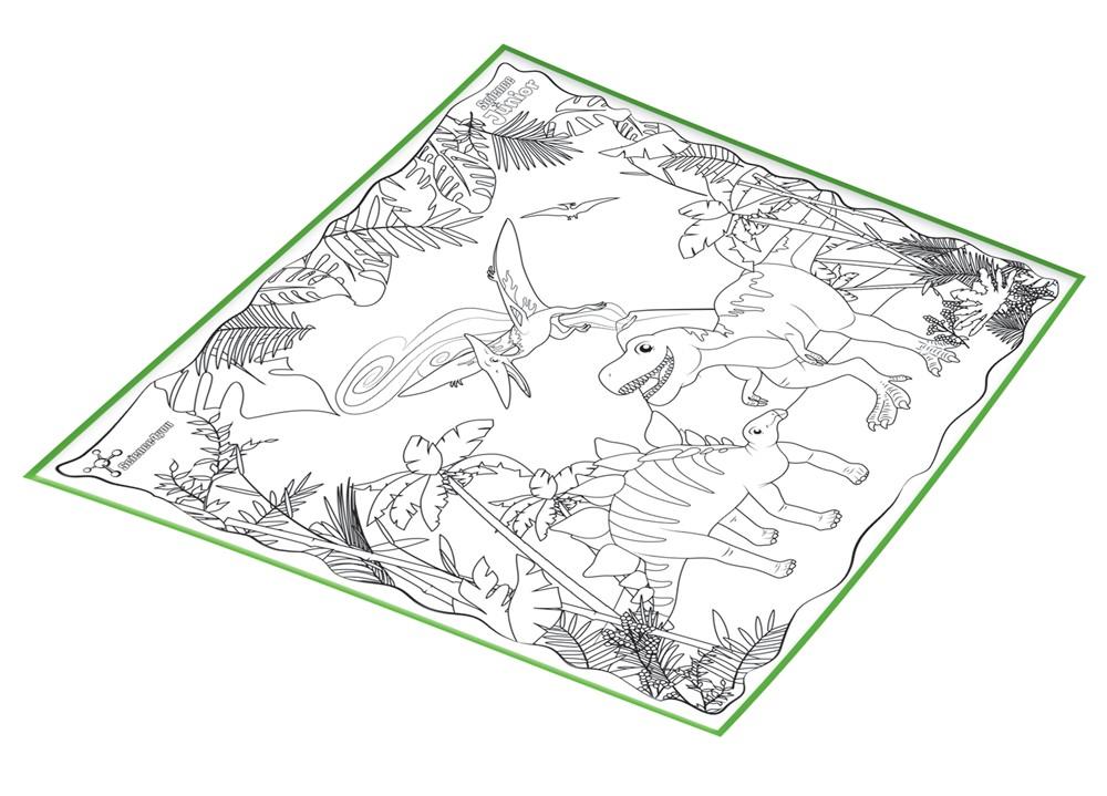 Alfombra Para Colorear Dinosaurios Univecs